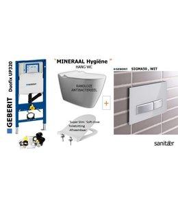 Geberit  UP320 & SIGMA50 Wit Drukplaat Toiletset
