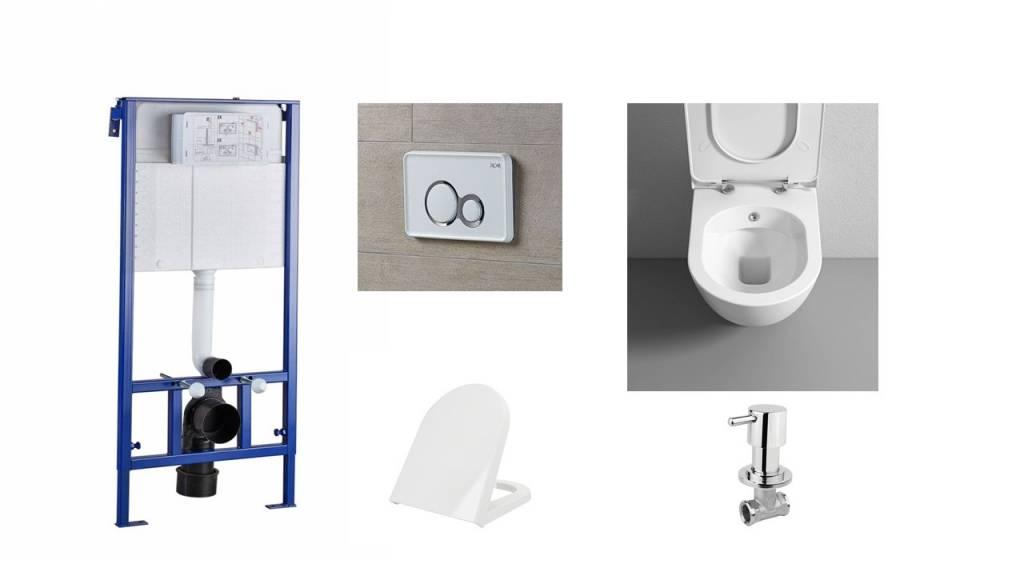 Inbouw Toilet Compleet : Toilet met bidet set aanbieding compact compleet gratis