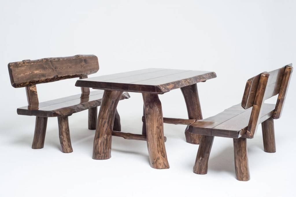 Sitzholz Sitzgruppe MOMO (dunkel)