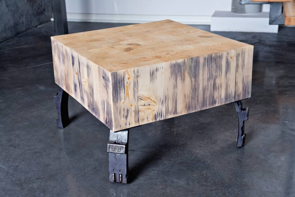 Sitzholz Beistelltisch FELIX