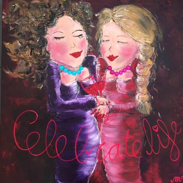 FEELGOOD schilderijen & producten Feelgood schilderij 'Celebrate life'
