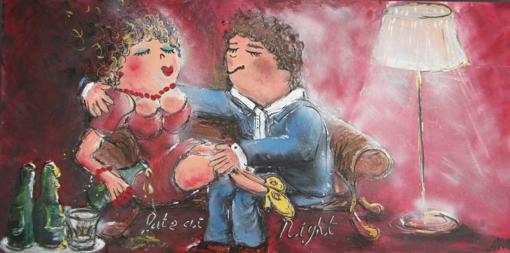 FEELGOOD schilderijen & producten Schilderij 'Late at night'