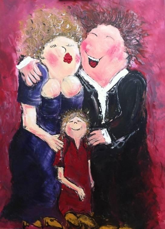 FEELGOOD schilderijen & producten Feelgood schilderij 'Happy people'