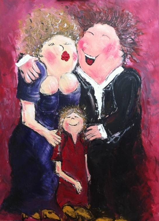 FEELGOOD schilderijen & producten Schilderij 'Happy people'