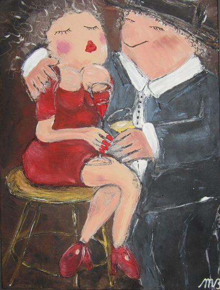 FEELGOOD schilderijen & producten Feelgood schilderij  'At the bar'
