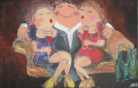 FEELGOOD schilderijen & producten Schilderij 'At the sofa'