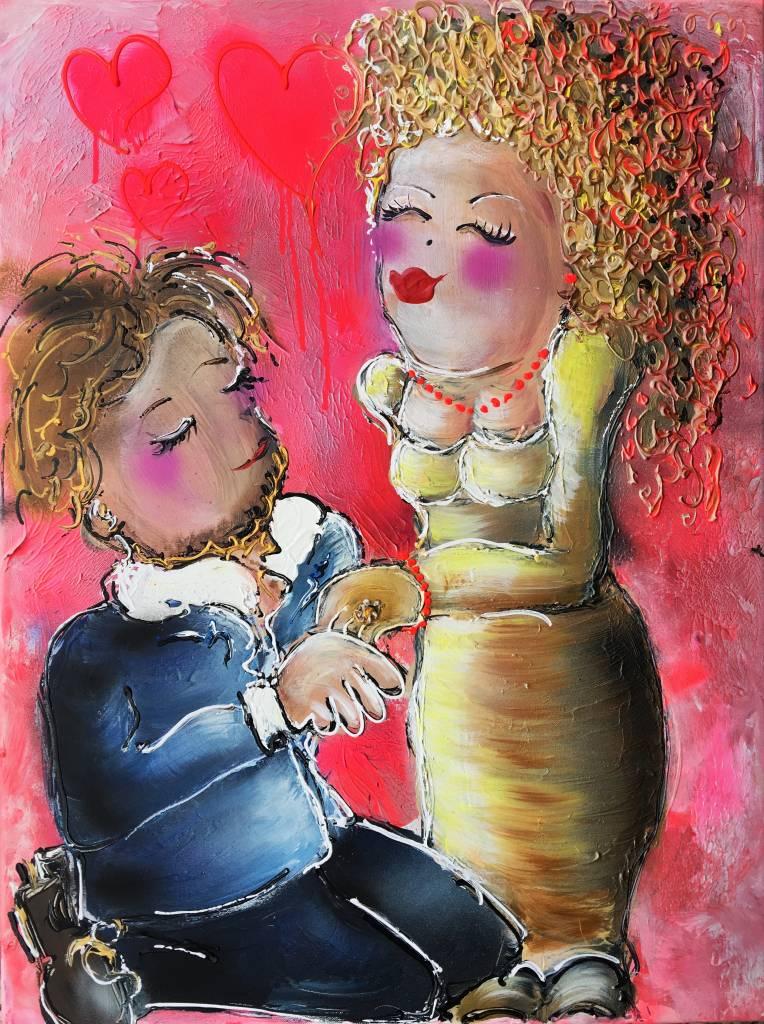 FEELGOOD schilderijen & producten Feelgood schilderij 'True love'
