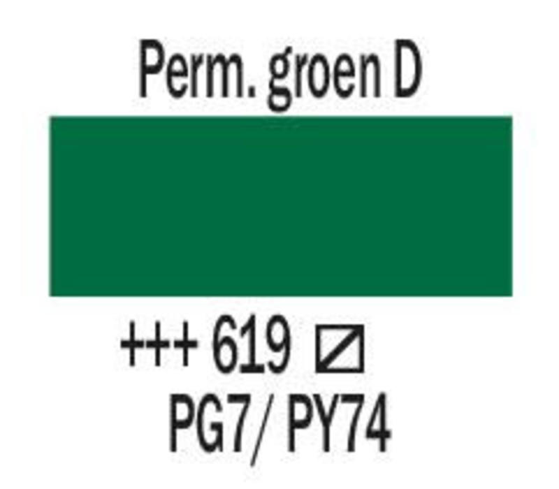 Amsterdam acrylverf 120ml standard 619 Permanentgroen donker