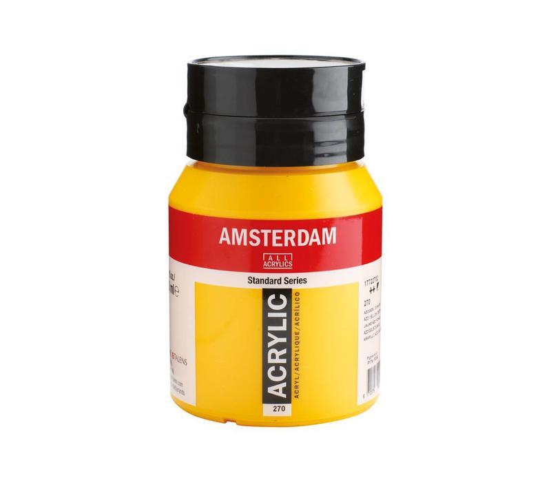 Amsterdam acrylverf 500ml standard 270 Azogeel donker