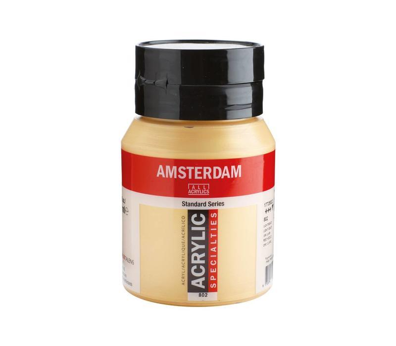 Amsterdam acrylverf 500ml standard 802 lichtgoud