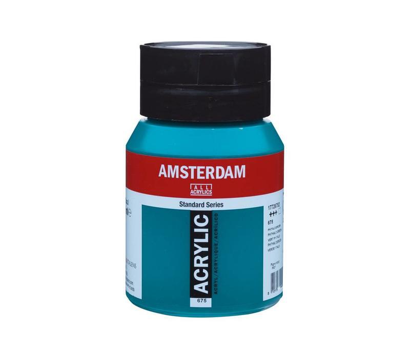 Amsterdam acrylverf 500ml standard 675 Phtalogroen