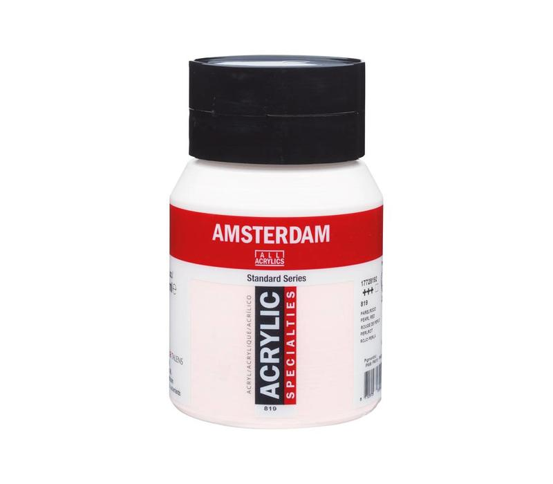 Amsterdam acrylverf 500ml standard 819 Parelrood