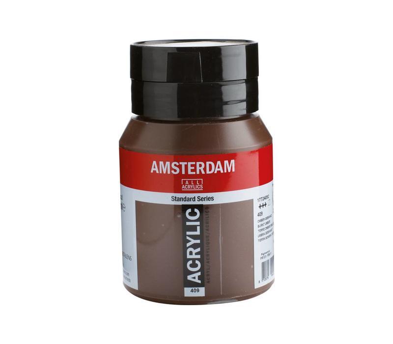 Amsterdam acrylverf 500ml standard 409 Omber gebrand