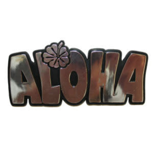 Gliders 3D Metalen Auto Embleem 'ALOHA'