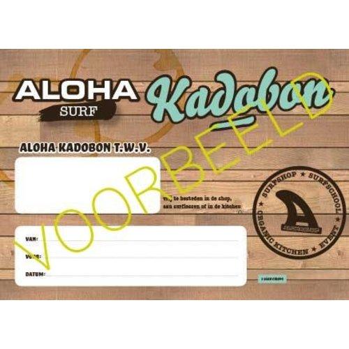 Aloha Surf Huismerk Kadobon Introductie Junior Surfles 1 Persoon