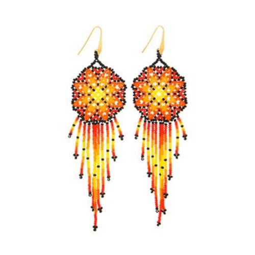 ByDimi ByDimi Beaded Flower Circles Oorbellen