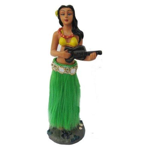 Aloha Surf Huismerk Hula Doll Dashboard: Ukelele Groene Rok