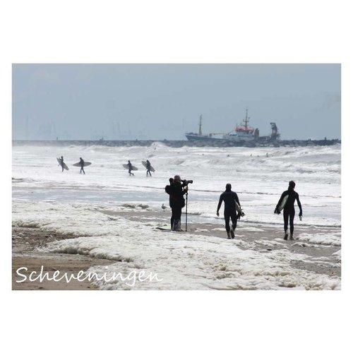 Ivooosterbaan Ivooosterbaan Scheveningen Surfers Postkaart