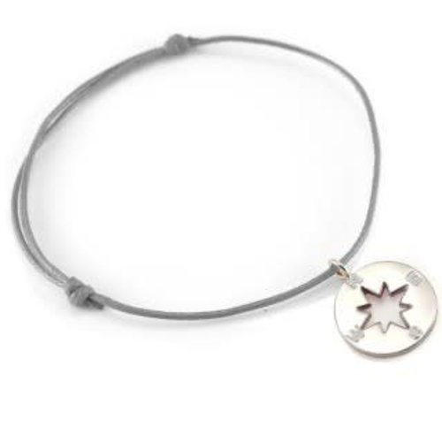 Silver Surf Silver Surf Zilveren Windroos Armband