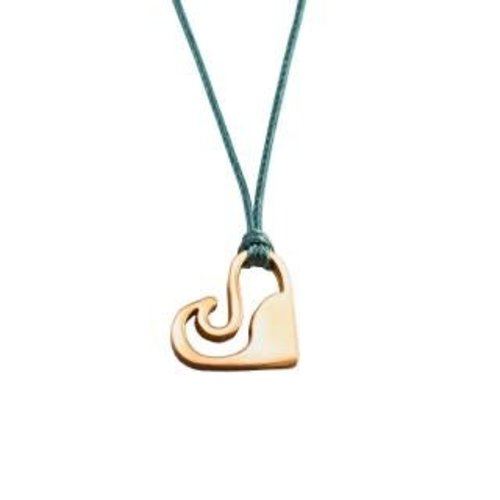 Silver Surf Silver Surf Gouden Love Wave Ketting