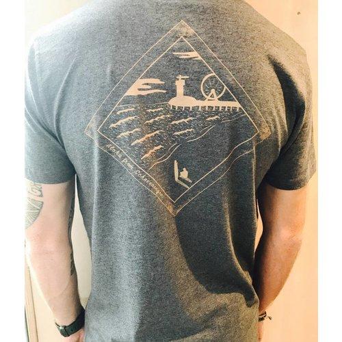 Aloha Surf Huismerk Aloha's Scheveningen de Pier T-shirt Heren