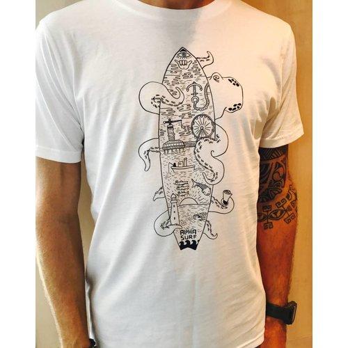 Aloha Surf Huismerk Aloha's Surfboard Octopus T-shirt Heren