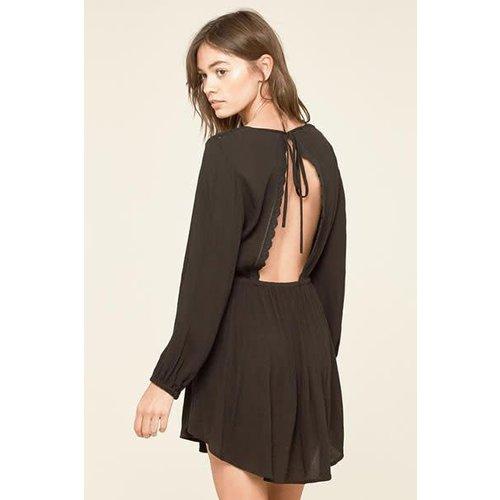 Amuse Amuse Portia Black Dress