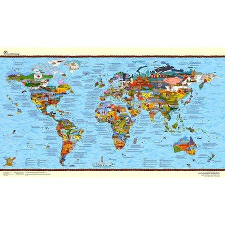 Surftripmap Wereldkaart Bucketlist Map Re-Writable