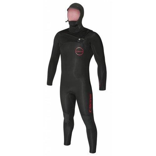 C-Skins C-Skins ReWired 5/4 Heren Hooded Winter Bl/Rust Wetsuit