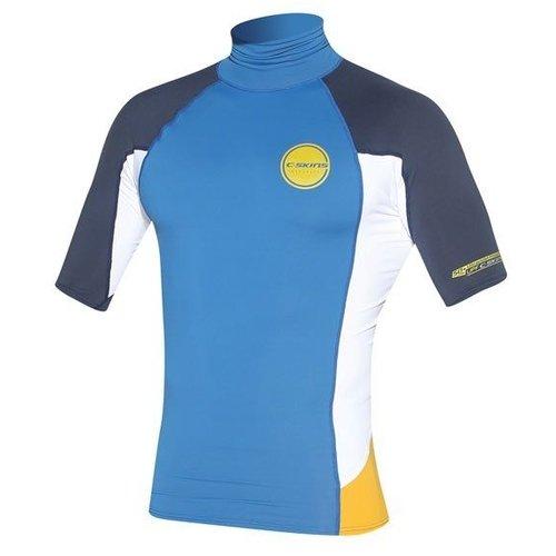 C-Skins C-Skins Heren Lycra Short Sleeve Blauw/Mosterd/Wit