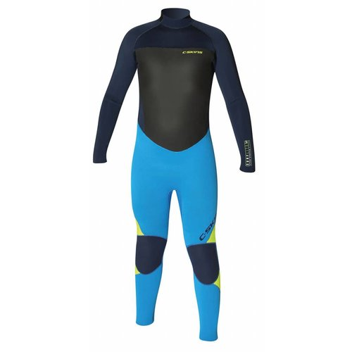 C-Skins C-Skins Surflite 5/4 Kids Cyan/Yellow Winter Wetsuit