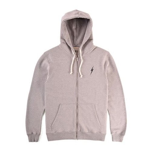 Lightning Bolt Lightning Bolt Essential Heather Grey Zip Hoodie