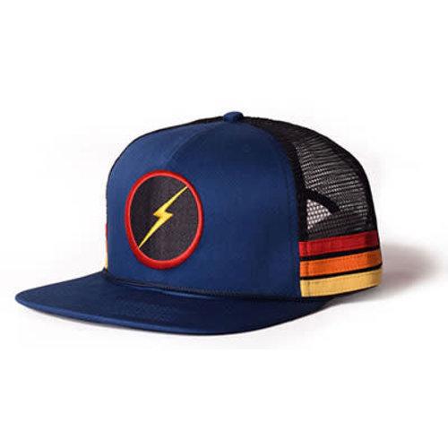 Lightning Bolt Lightning Bolt Sunset Stripe Blue Trucker Cap
