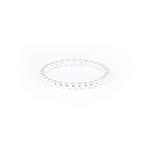 Little Lem Little Lem Sara The Sidekick Pearl Silver Ring