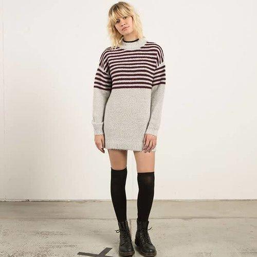 Volcom Volcom Dames Cold Daze Heather Grey Dress