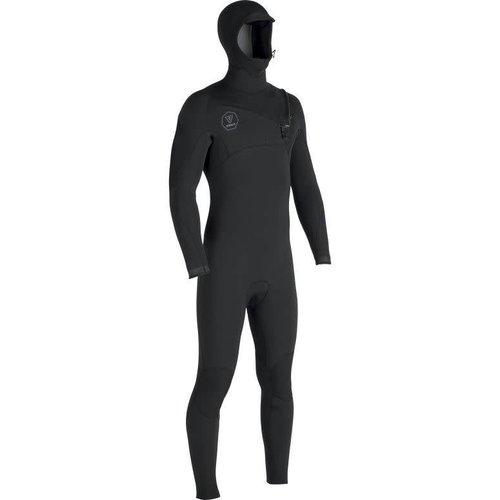 Vissla Vissla 7 Seas 5/4 Heren Black Fade Hooded Winter Wetsuit