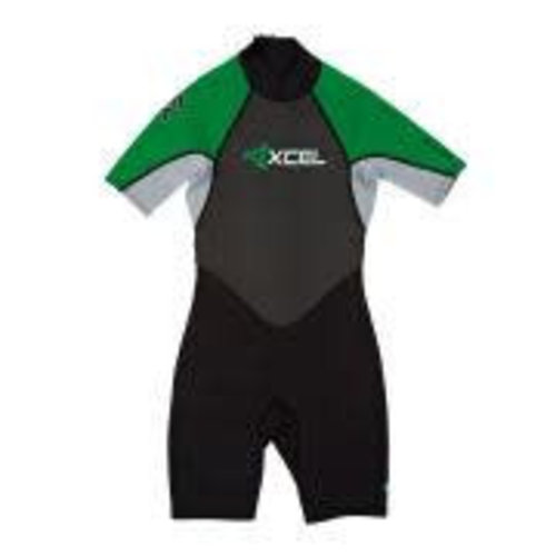 Xcel Xcel GCS 2mm Kinder Wetsuit Shorty Groen