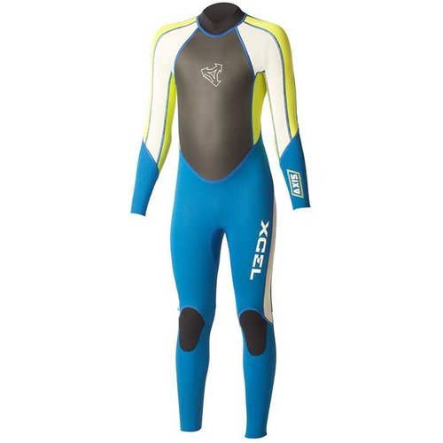 Xcel Xcel Axis 3/2 Kids Zomer Blauw/Lime Wetsuit