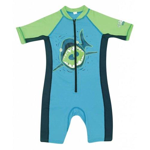C-Skins C-Skins Shark Green Baby Lycra Shorty