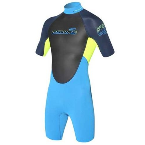 C-Skins C-Skins Element 3/2 Kids Shorty Geel/Blauw Wetsuit