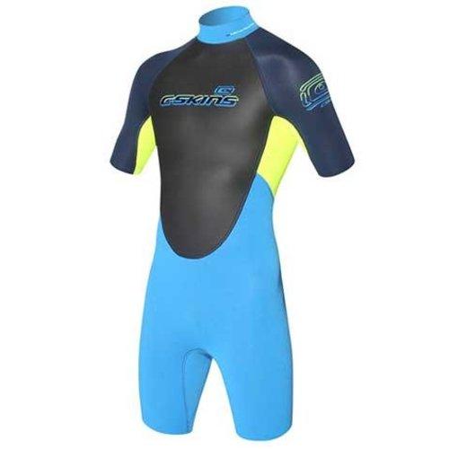 C-Skins C-Skins Element 3/2 Kinder Shorty Geel/Blauw Wetsuit