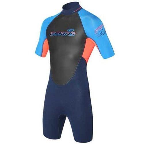 C-Skins C-Skins Element 3/2 Kinder Shorty Rood/Blauw Wetsuit W17