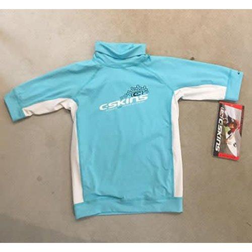 C-Skins C-Skins Lycra Short Sleeve Blue Girls