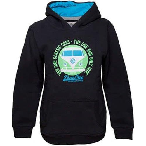 Van One Van One Kids VW Bulli Face Black/Green Hoodie