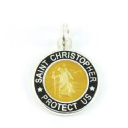 Saint Christopher Saint Christopher Zwart/Brons Ketting