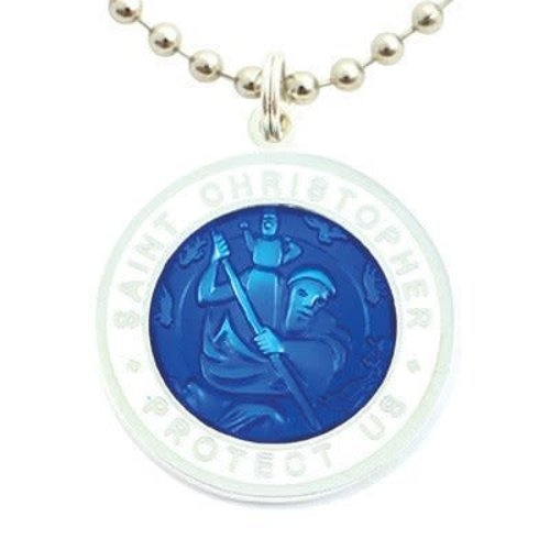 Saint Christopher Saint Christopher RoyalBlue/Wit Ketting