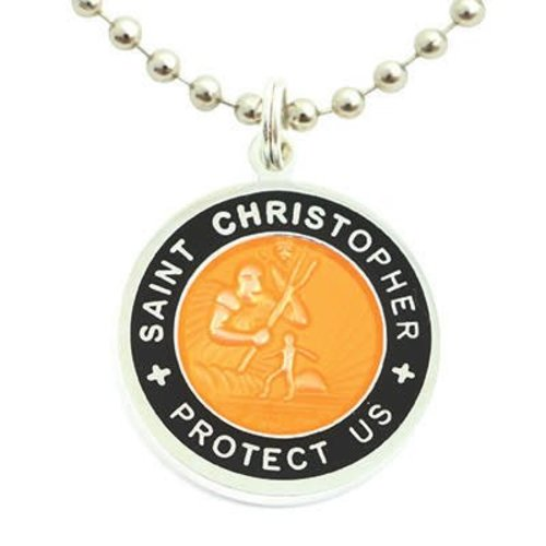 Saint Christopher Saint Christopher Zwart/Oranje Ketting
