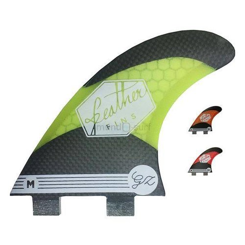 Feather Fins Feather Fins FCS Gony Yellow/Carbon Thruster Fins