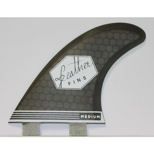 Feather Fins Feather Fins FCS Ultra Light Black Thruster Fins