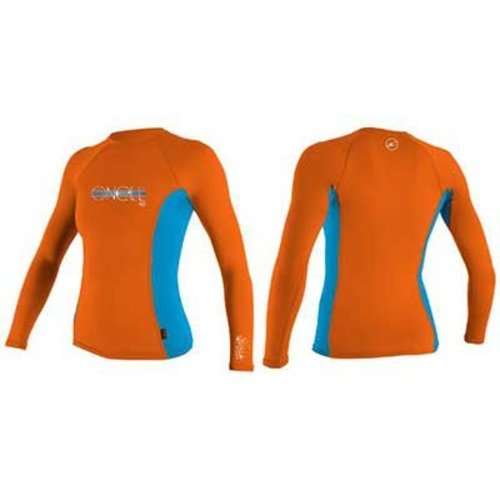 O'Neill O'Neill Skins LS Kids Neon/Roze Oranje Lycra